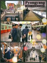 Pyongyang Underground - public transportation with beautiful metro stations and old German trains