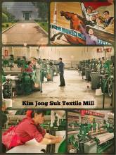 Kim Jong Suk Textile Mill - old machines producing textile fabrics like a century ago in Europe