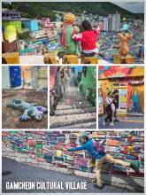 Gamcheon Cultural Village - one of the most artsy neighbourhood in South Korea, the South of Busan