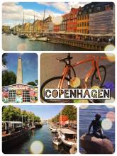 Copenhagen - riding the bicycle from the little mermaid across town to christiania