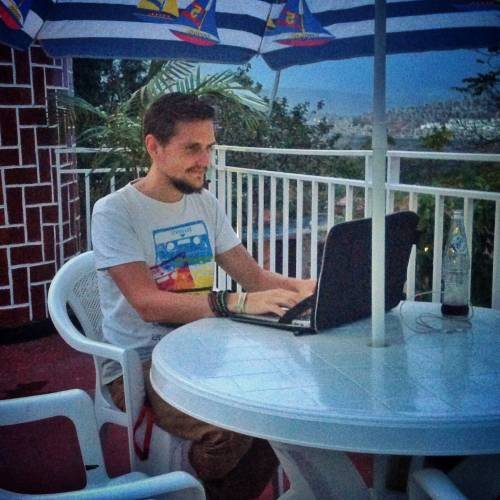 doing location independent work in Rwanda on my laptop