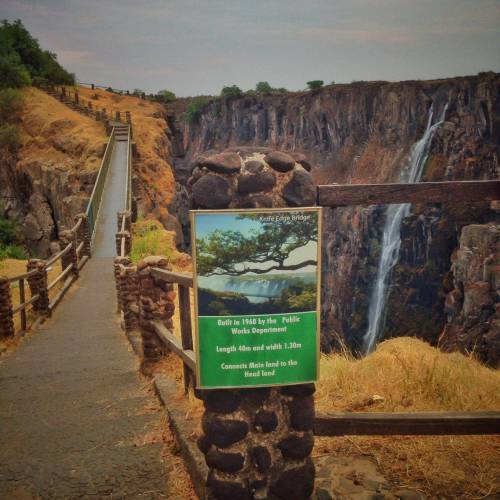 Zimbabwe: canyon of the Victoria Falls waterfall in the dry season